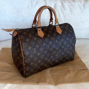 AUTHENTIC Louis Vuitton Speedy 35 Monogram + Dust